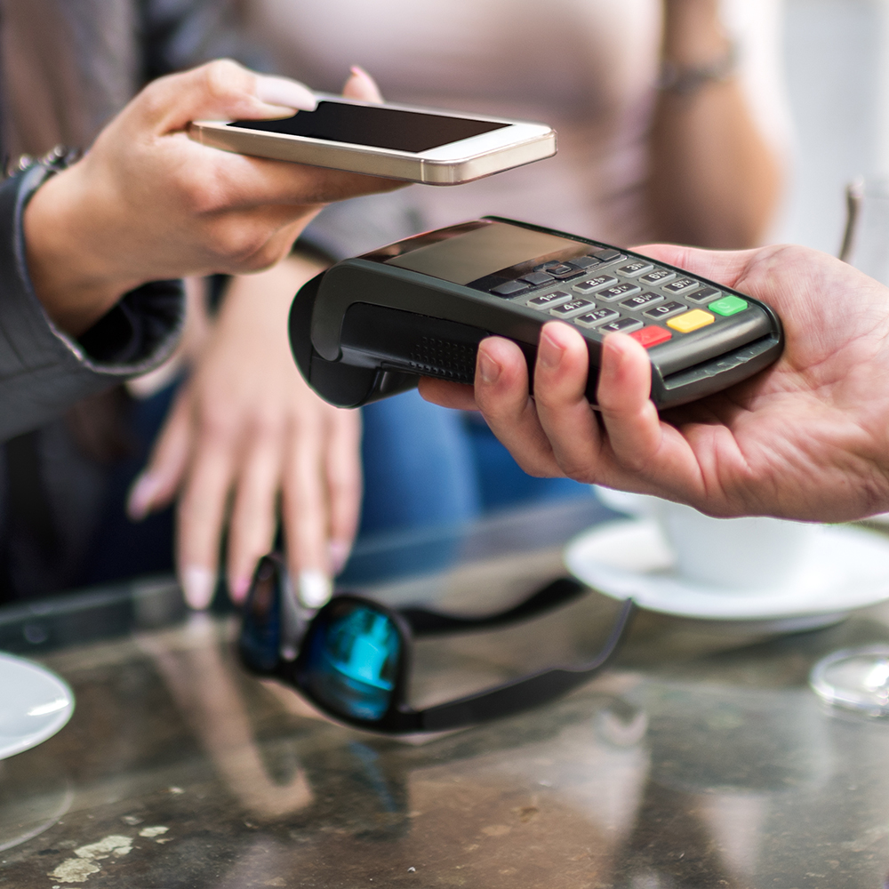 Using mobile phone to pay at store
