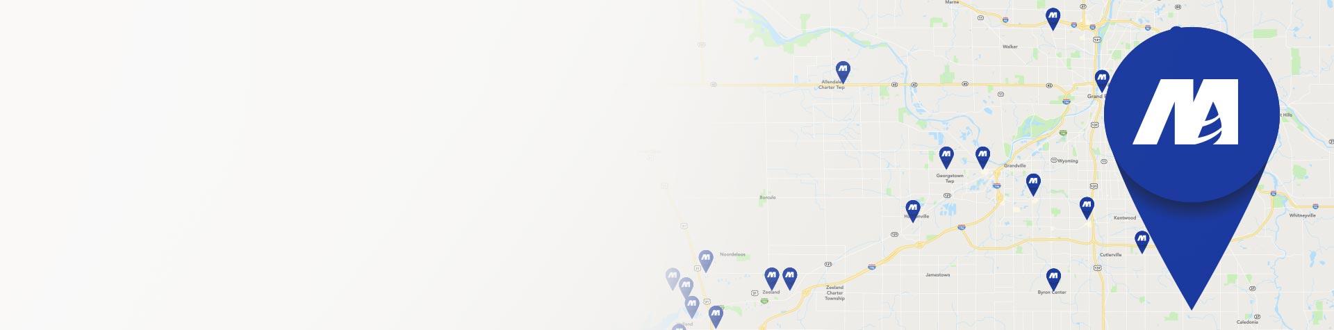 Map of Macatawa Bank locations